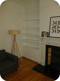 alcove cupboards at london library wall